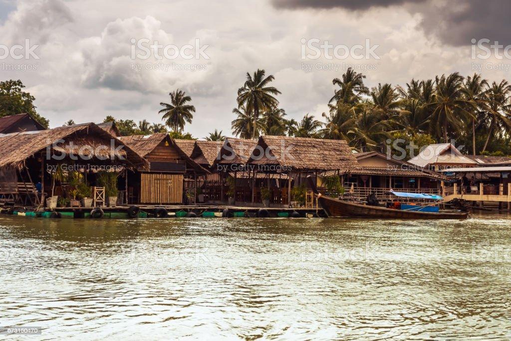 fishing village in Krabi Province, Thailand stock photo
