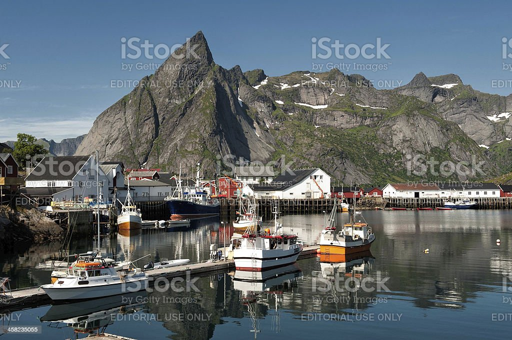 Fishing village in northern Norway royalty-free stock photo