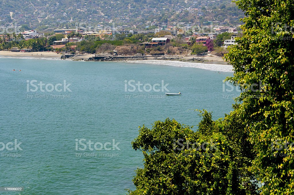 Fishing Village in Zihuatanejo, Mexico stock photo