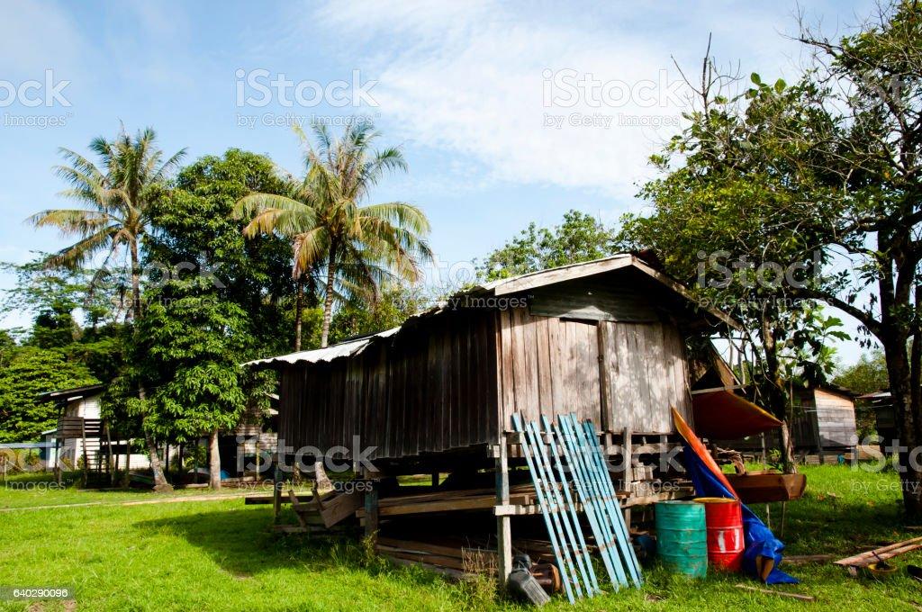 Fishing Village - Mulu National Park - Borneo stock photo