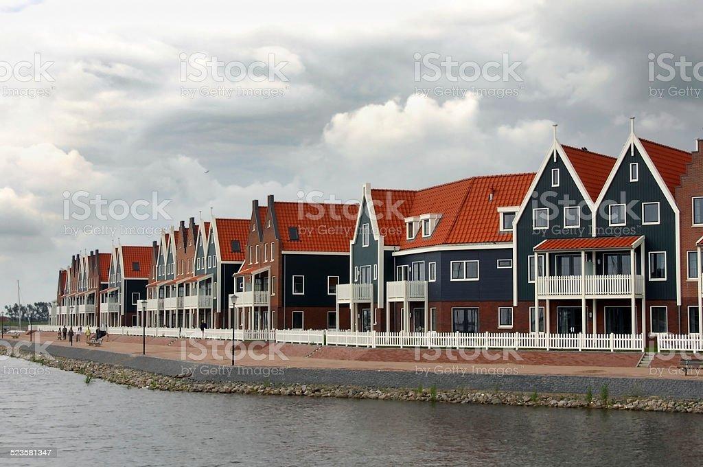fishing village of Volendam Holland stock photo