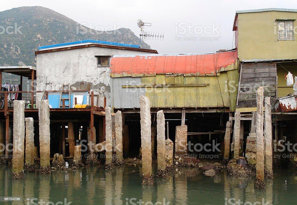 Fishing Village on Water royalty-free stock photo