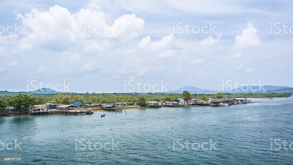 Fishing village. Phuket Thailand royalty-free stock photo