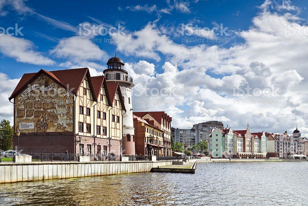 Fishing Village - tourist attraction. Kaliningrad, Russia stock photo