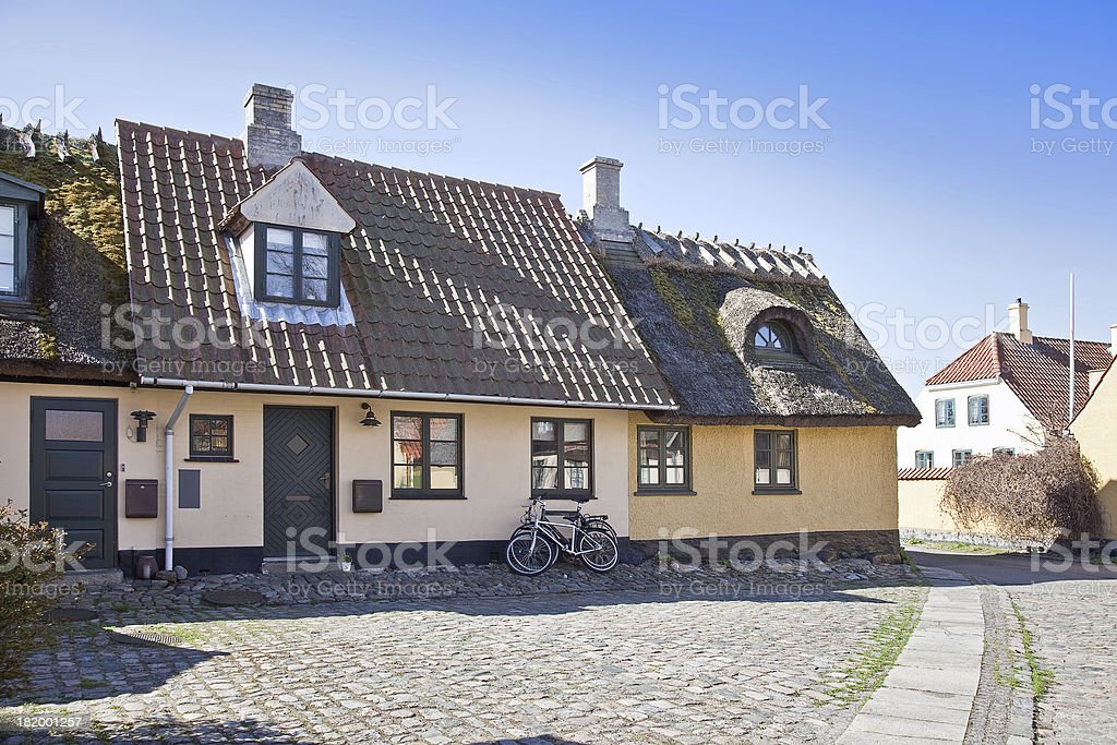 Fishing village with houses of the 16th century royalty-free stock photo