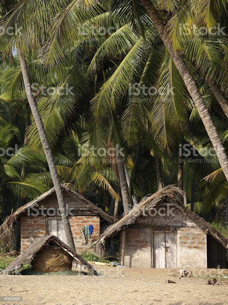 Fishing village,Varkala,India. stock photo