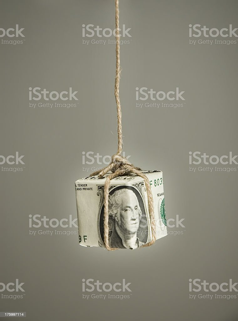 Fishing with money royalty-free stock photo