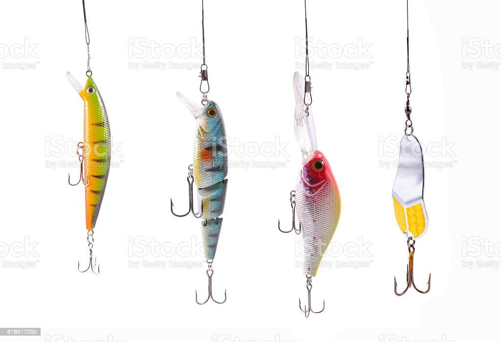 fishing wobblers stock photo