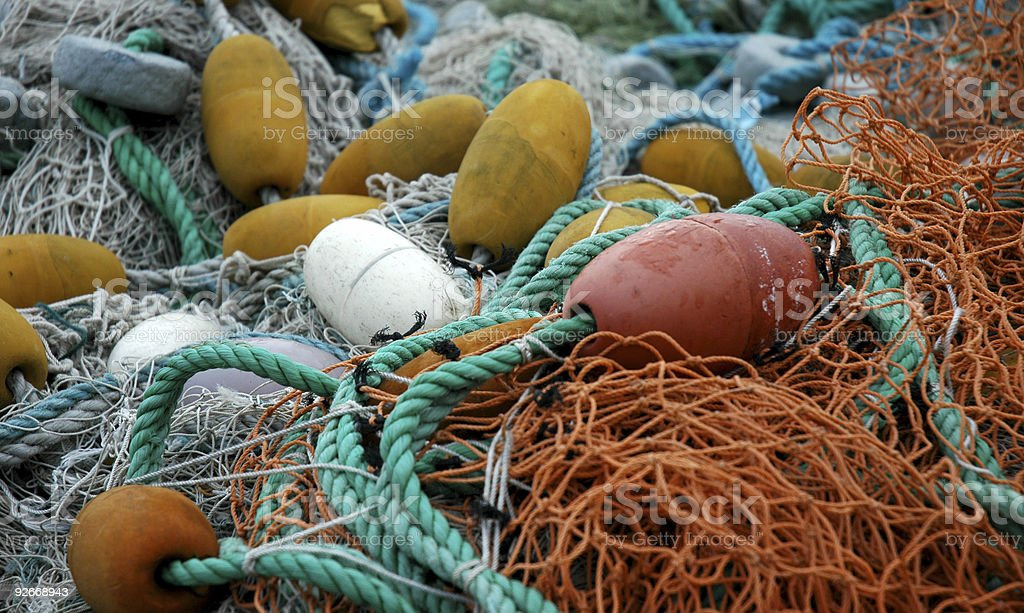 fishingnet stock photo