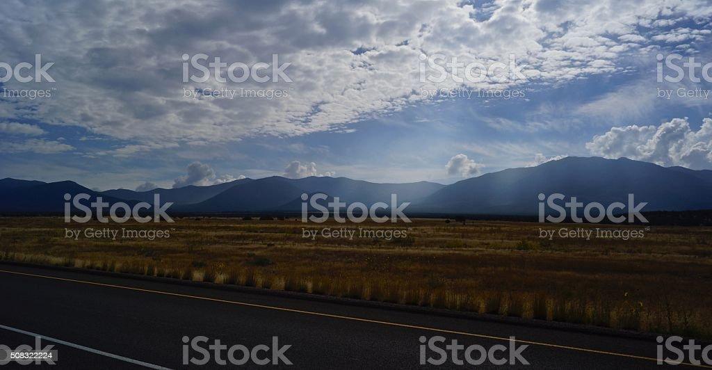 Fishlake Forest Freeway stock photo