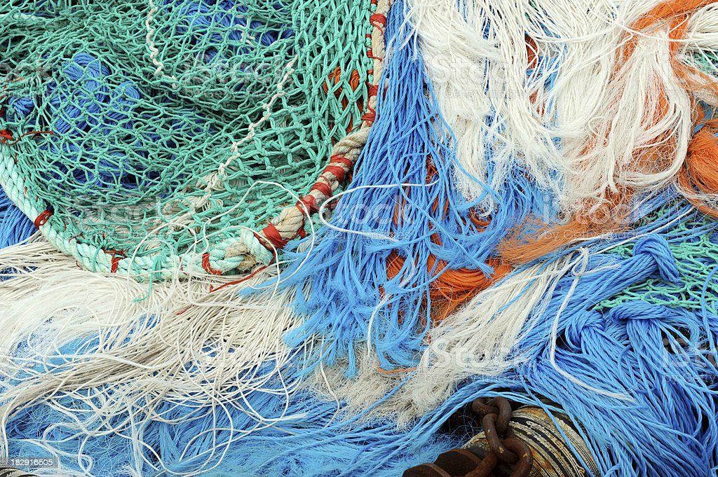 fishnet and ropes stock photo
