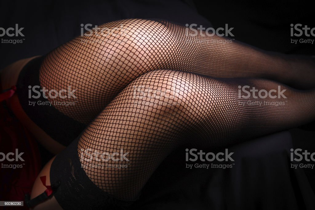 fishnet stockings royalty-free stock photo