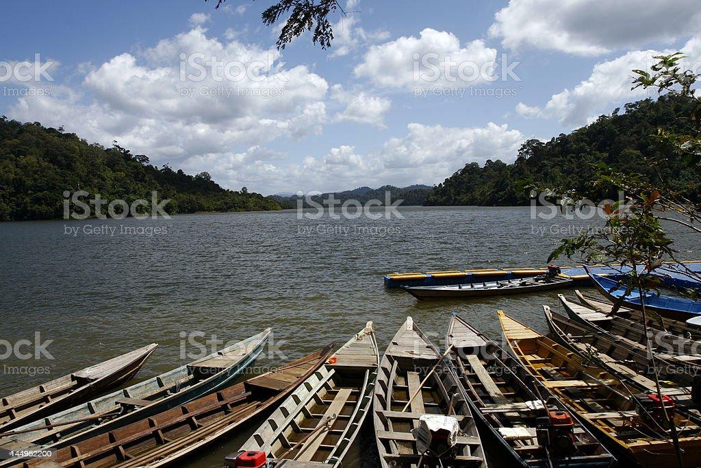 Fishreman boats royalty-free stock photo