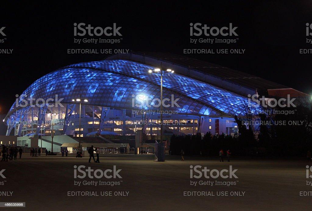 Fisht Olympic Stadium in the Olympic Park stock photo