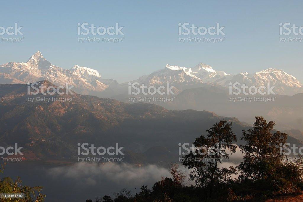 Fishtail Mountain Scene royalty-free stock photo