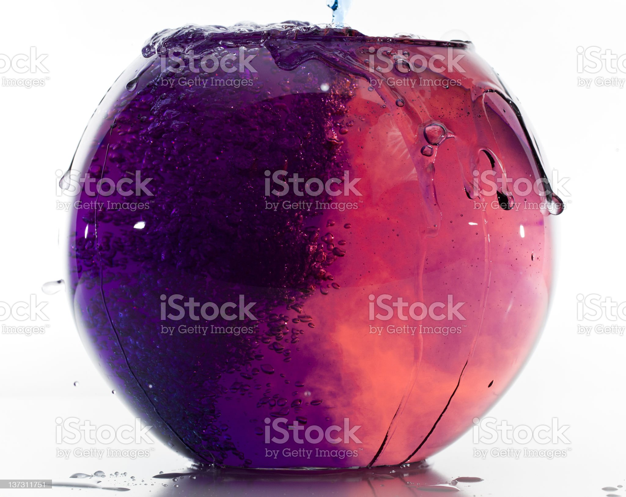 Fishtank with mixed colored water royalty-free stock photo