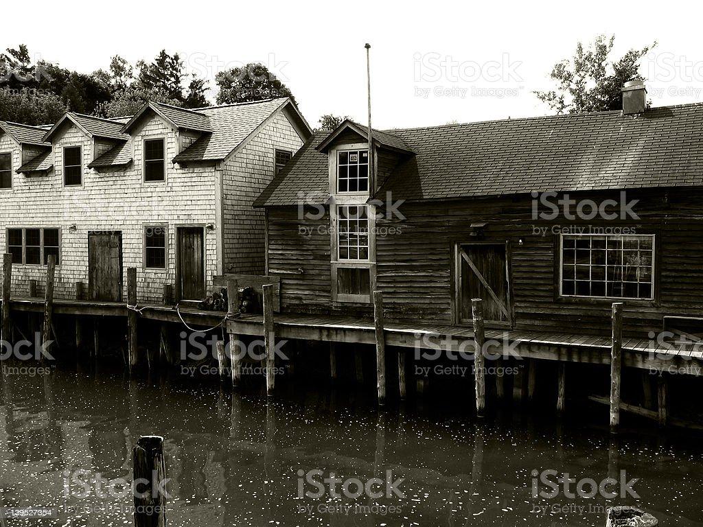 Fishtown stock photo