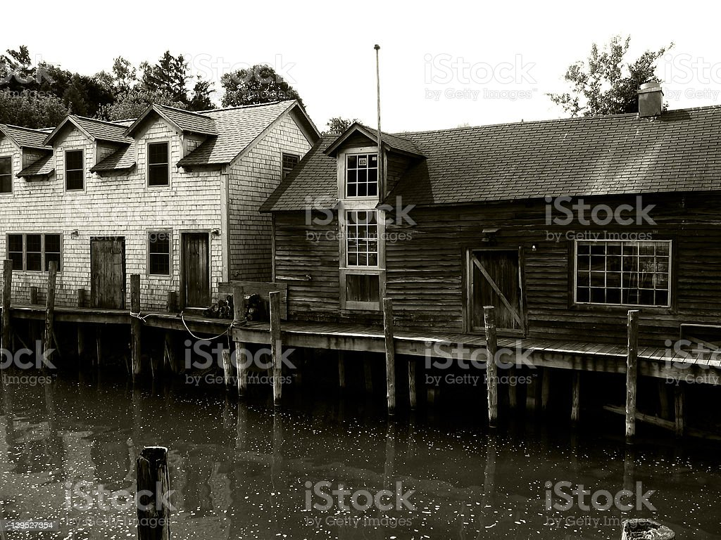 Fishtown stock photo