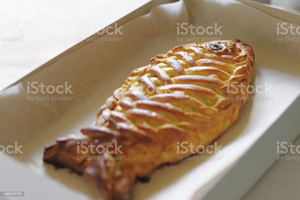Fishy pie stock photo