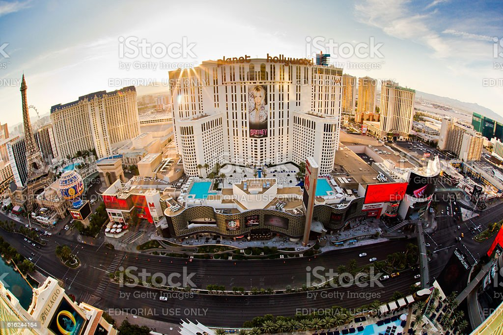 Fishyeye Vegas stock photo