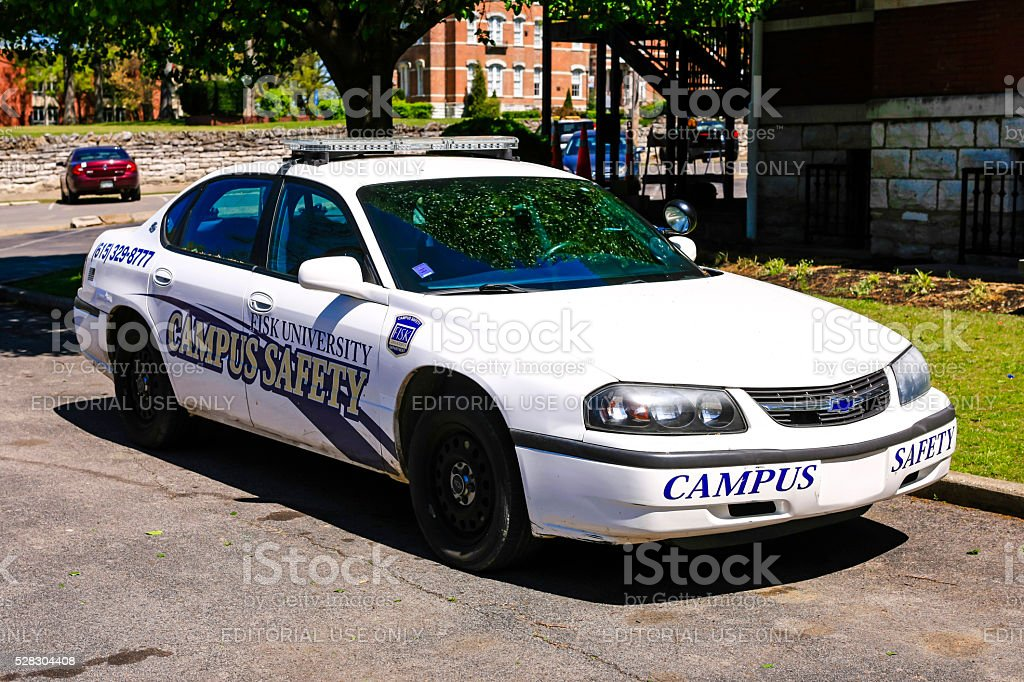 Fisk University Campus Police vehicle in Nashville, Tennessee stock photo