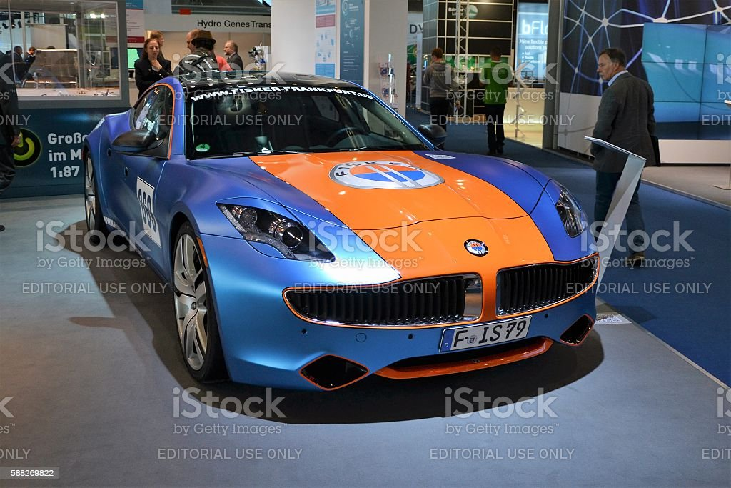 Fisker Karma on the motor show stock photo
