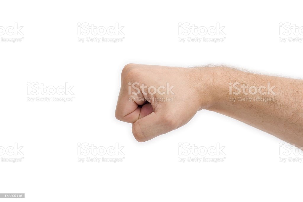 Fist ahead royalty-free stock photo