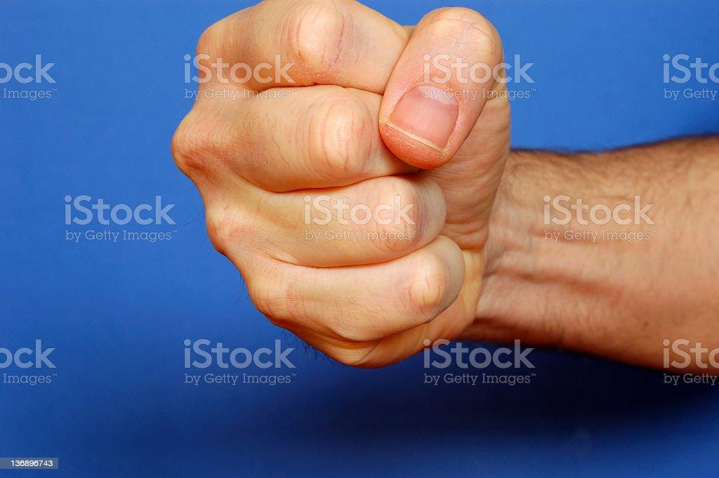 Fist Down stock photo