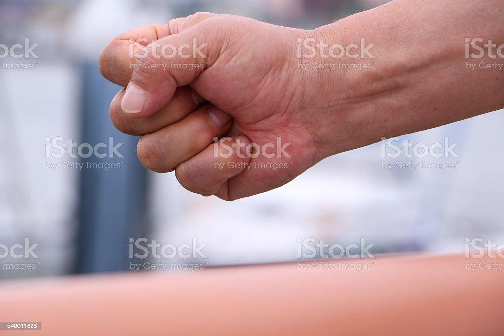 Fist empower stock photo