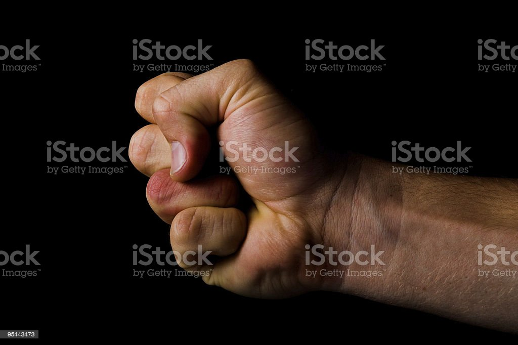 Fist - fight concept royalty-free stock photo