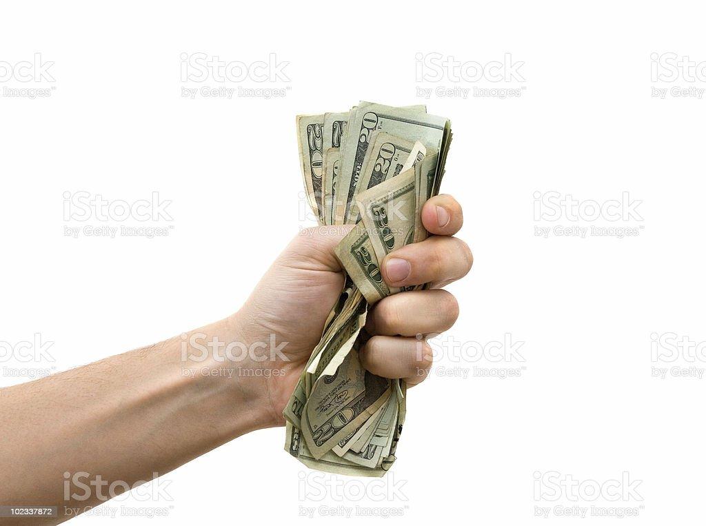 Fist Full of Dollars royalty-free stock photo