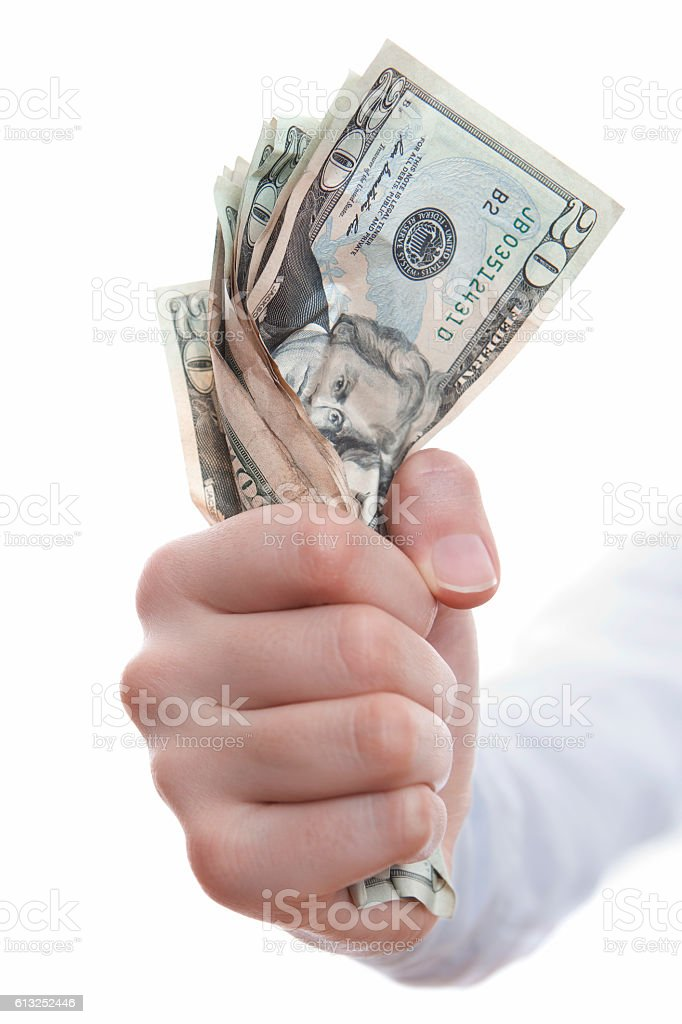 fist full of dollars stock photo
