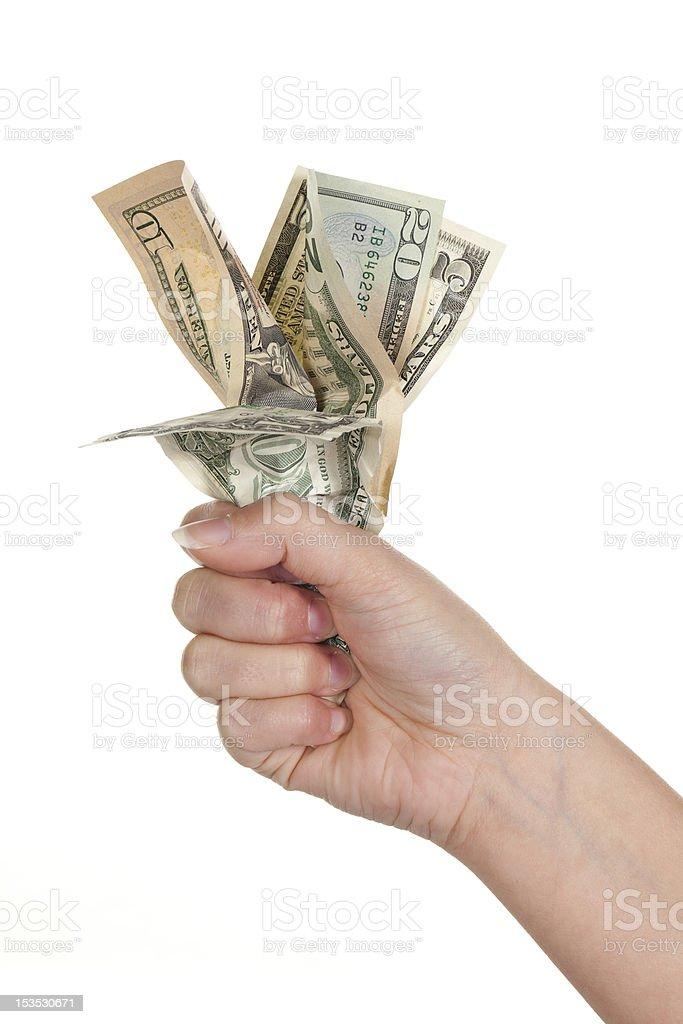 Fist full of money royalty-free stock photo