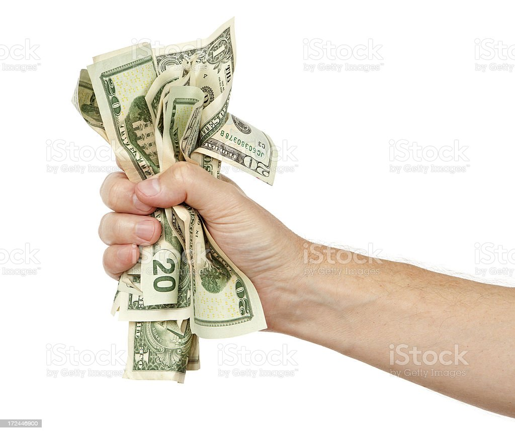 Fist Full of Money royalty-free stock photo