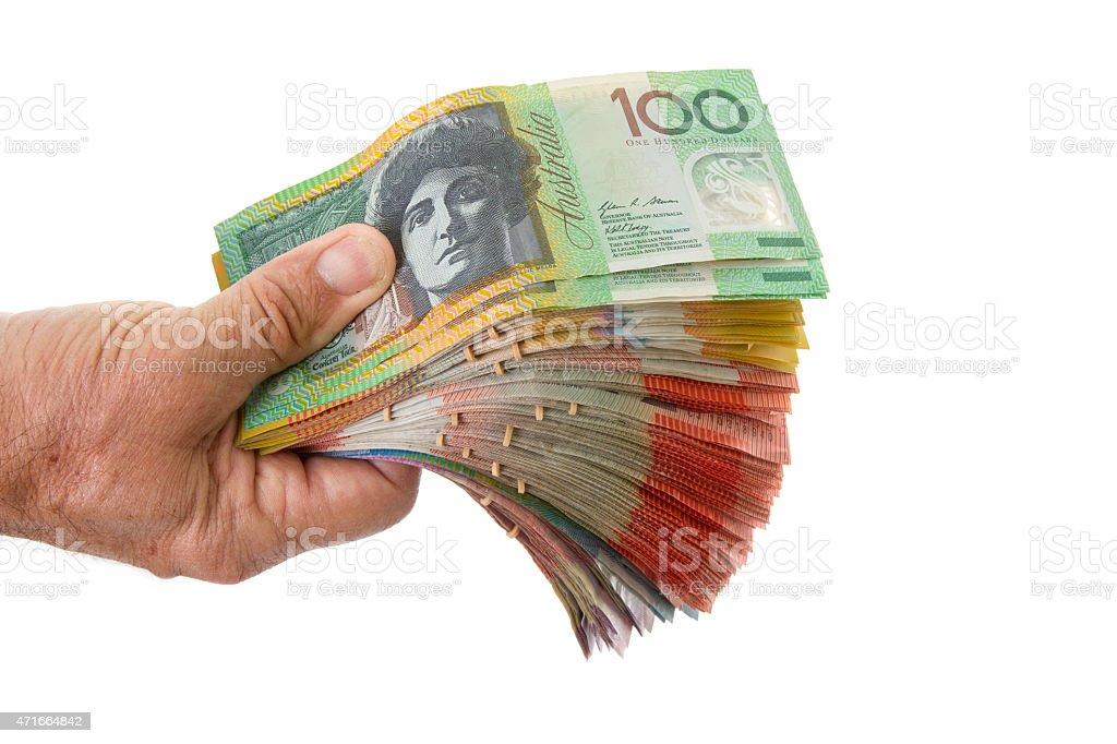 Fist full of money. stock photo