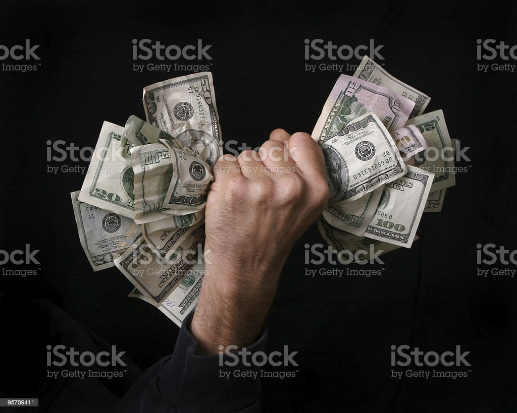 fist full of money stock photo