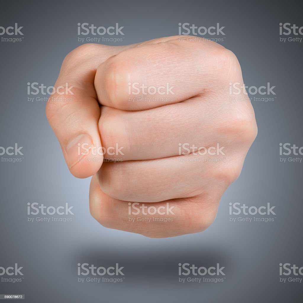 fist icon. stock photo