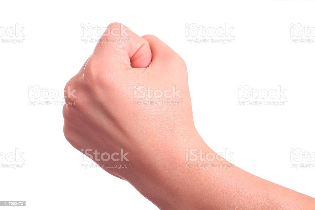 Fist isolated on white. royalty-free stock photo
