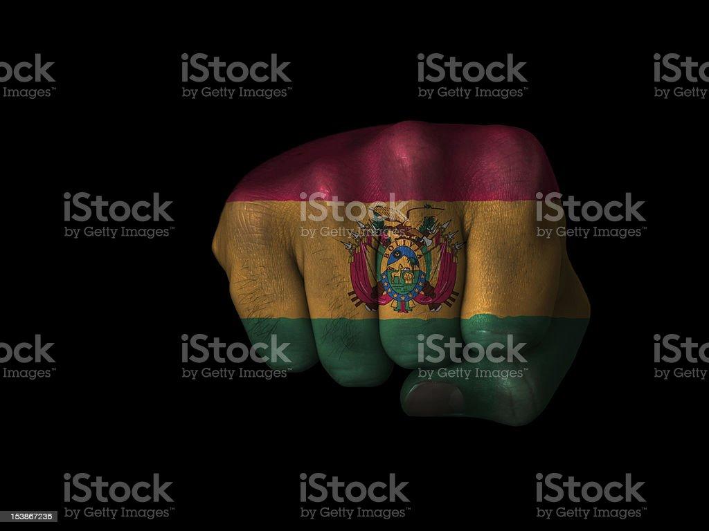 Fist of Bolivia stock photo