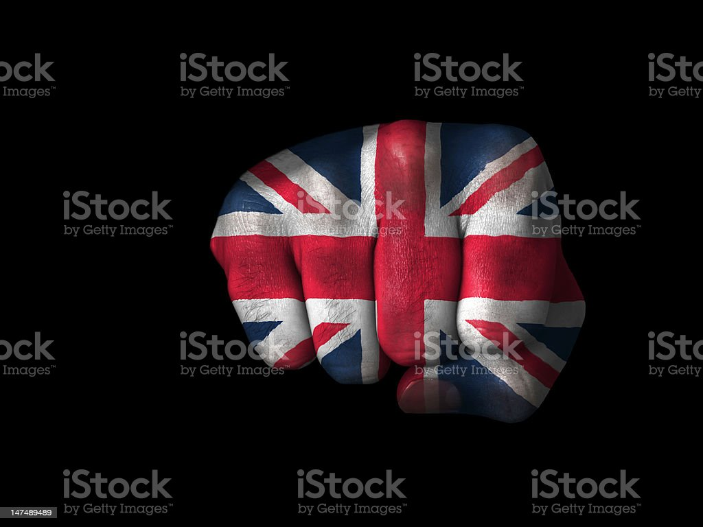 Fist of England royalty-free stock photo