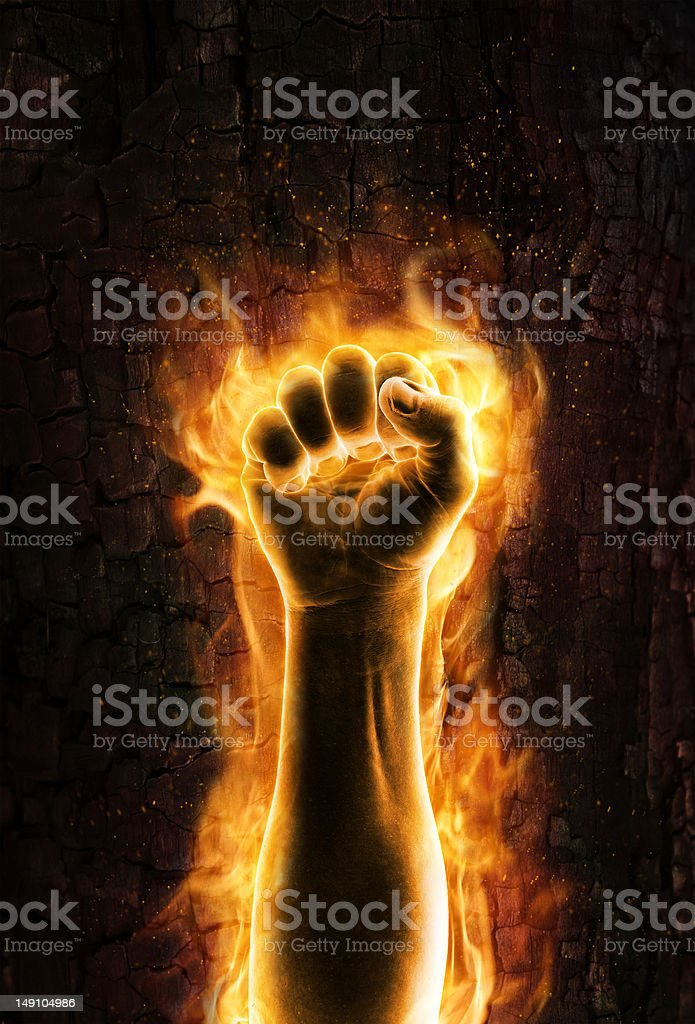 Fist of fire royalty-free stock photo