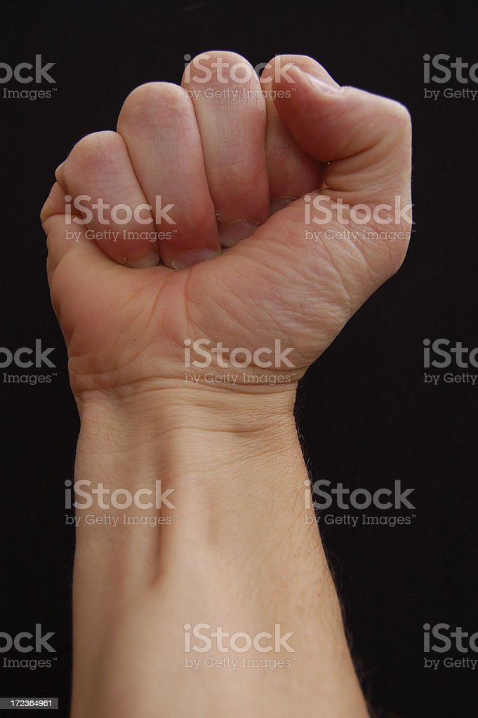 Fist of Power. royalty-free stock photo