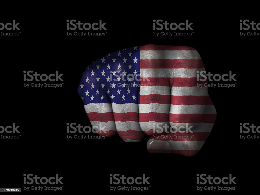 Fist of the United States royalty-free stock photo