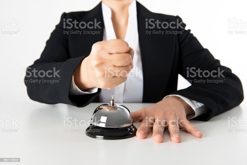 Fist Over Service Bell stock photo