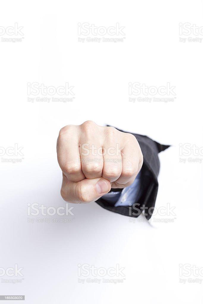 Fist. royalty-free stock photo