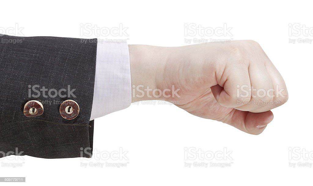 fist punch - hand gesture stock photo