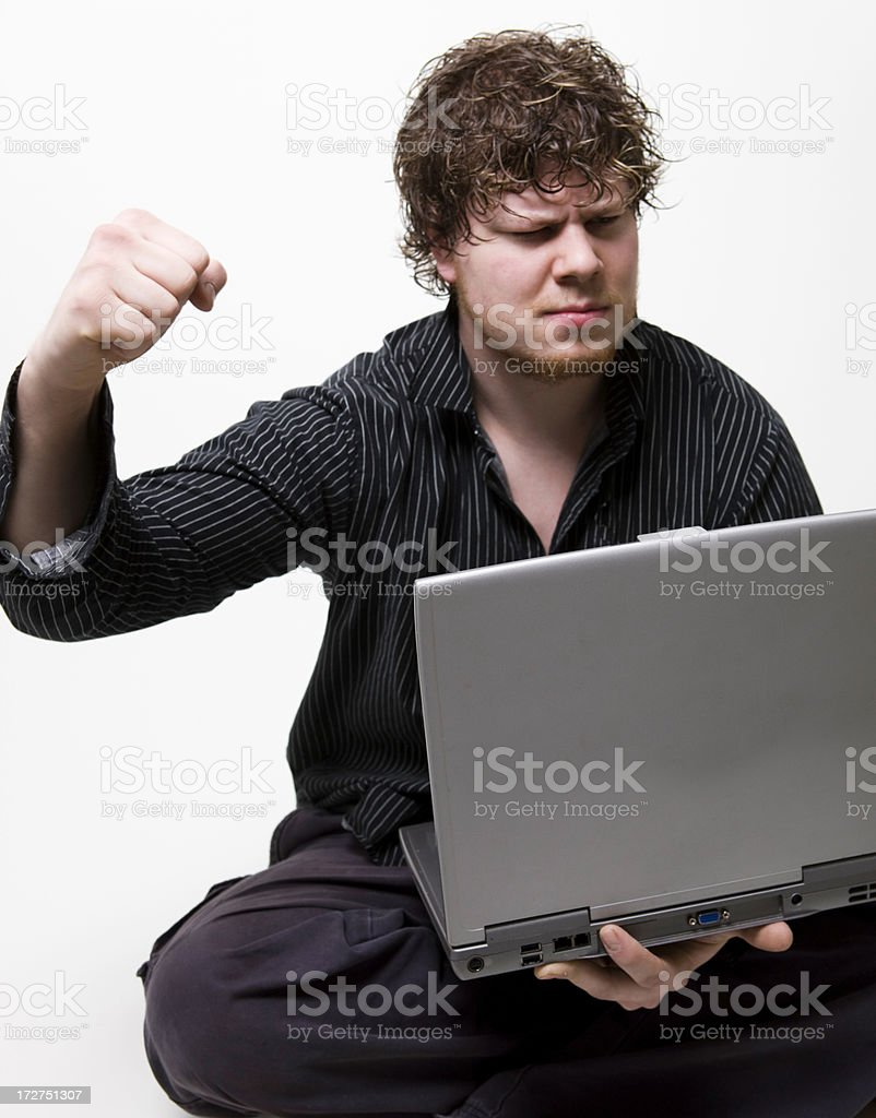 Fist Raised in Triumph royalty-free stock photo