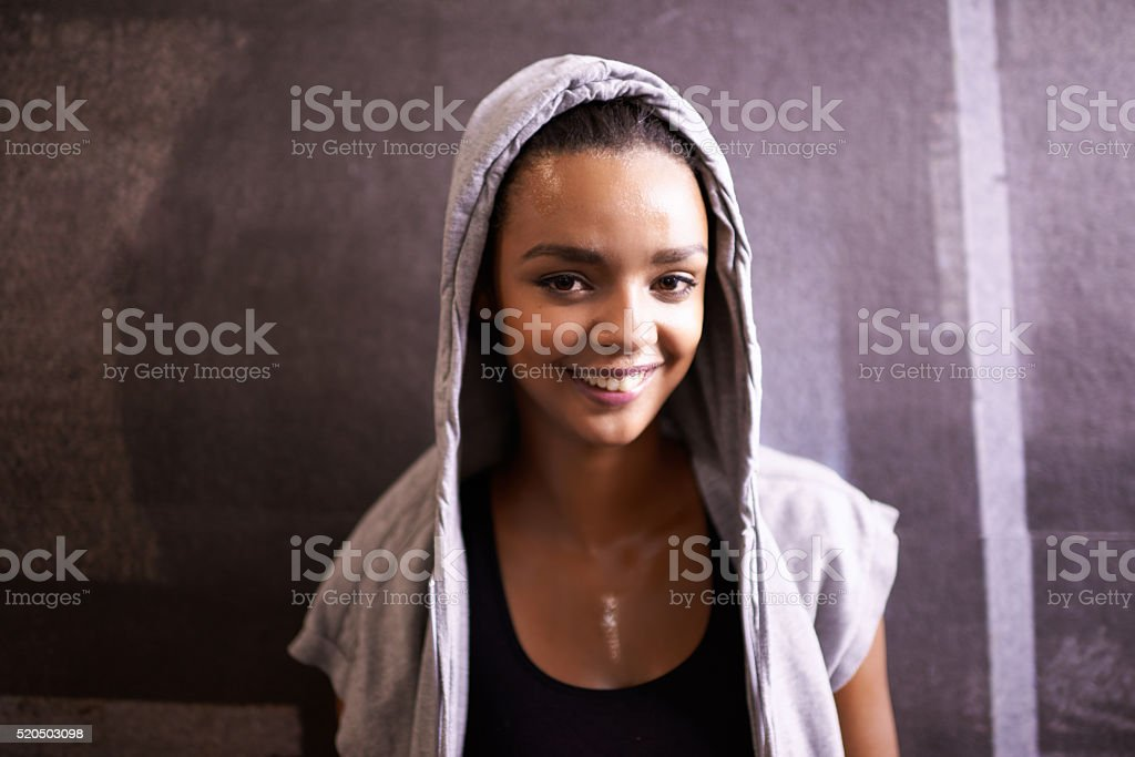 Fit and feeling it! stock photo