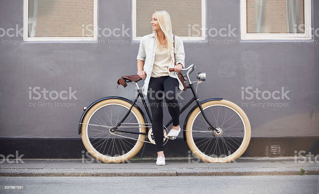Fit and trendy stock photo