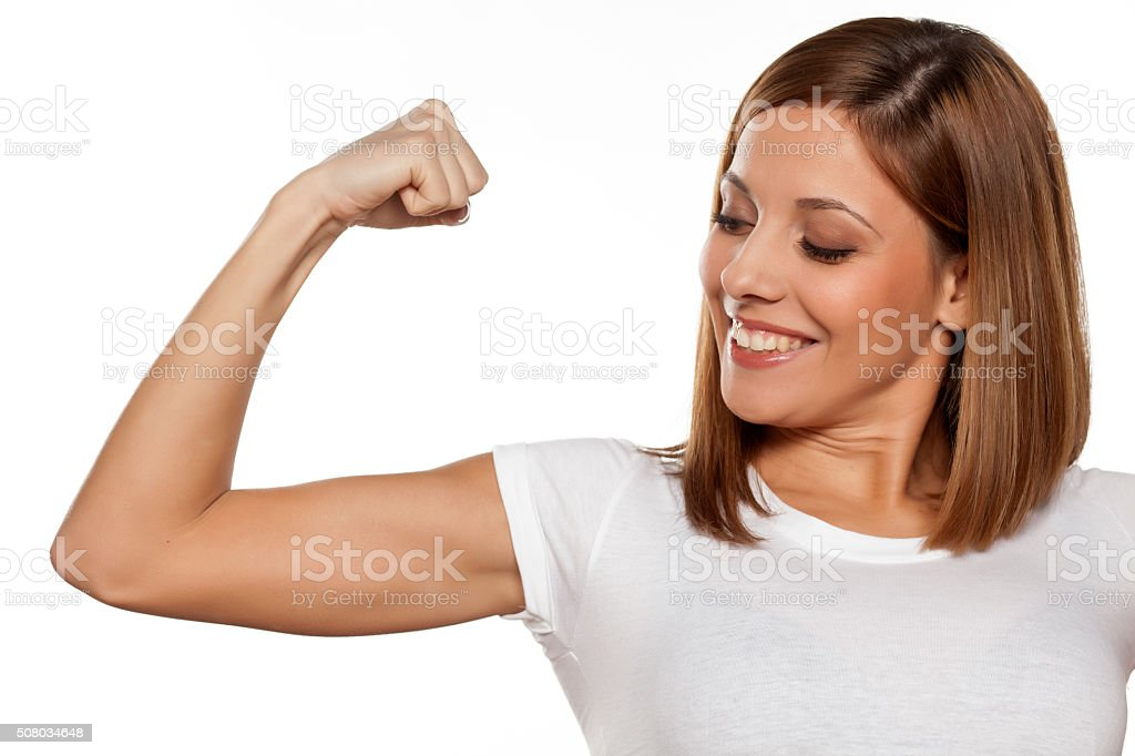 fit arms stock photo